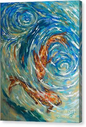 Linda Olsen Canvas Print - Swirling Waters by Linda Olsen