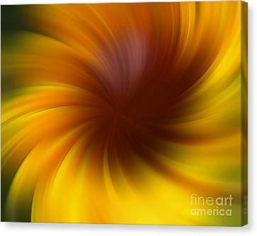 Swirling Yellow And Brown Canvas Print by Smilin Eyes  Treasures