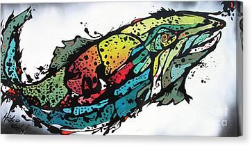 Swish Canvas Print by Nicole Gaitan