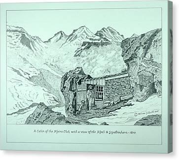 Swiss Alpine Cabin Canvas Print