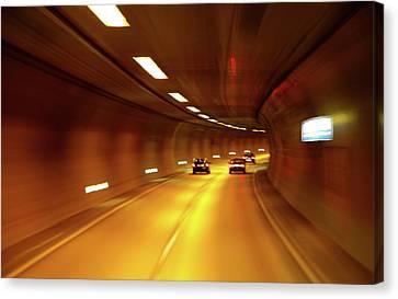 Canvas Print featuring the photograph Swiss Alpine Tunnel by KG Thienemann