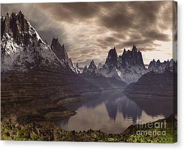 Swiss Canvas Print - Swiss Alps  by Heinz G Mielke