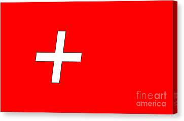 Swiss Flag Canvas Print by Frederick Holiday