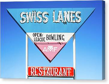 Swiss Lanes Canvas Print by Todd Klassy