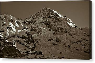 Swiss Mountain Landscape Canvas Print