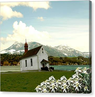 Swiss Spring Version 3 Canvas Print by Chuck Shafer