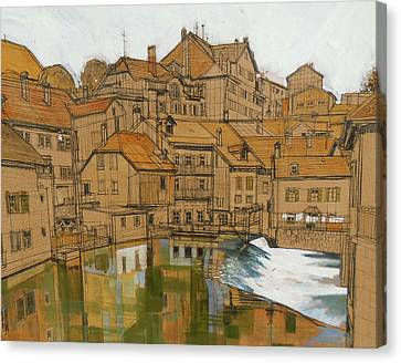 Swiss Trout Stream Canvas Print by Rich Richardson