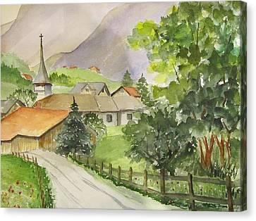 Swiss Village Canvas Print