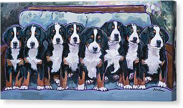 Swissie Pups Canvas Print by Nadi Spencer