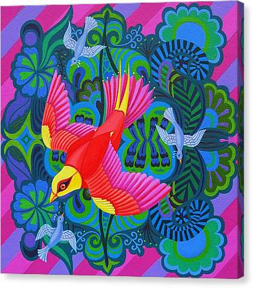 Swoop Canvas Print - Swooping Bird by Jane Tattersfield