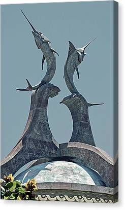 Swordfish Sculpture Canvas Print by DigiArt Diaries by Vicky B Fuller