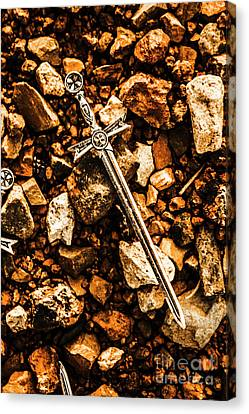 Swords And Legends Canvas Print by Jorgo Photography - Wall Art Gallery