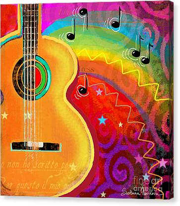 Sxsw Musical Guitar Fantasy Painting Print Canvas Print by Svetlana Novikova