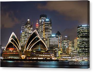 Sydney After Dark Canvas Print