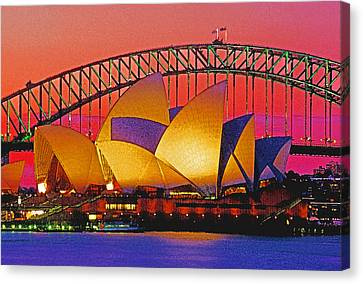 Sydney Architecture Canvas Print by Dennis Cox WorldViews