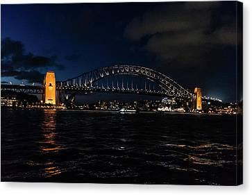 Canvas Print - Sydney Bridge At Night by Steven Richman