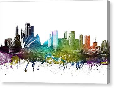 Sydney Cityscape 01 Canvas Print by Aged Pixel
