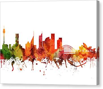 Sydney Cityscape 04 Canvas Print by Aged Pixel