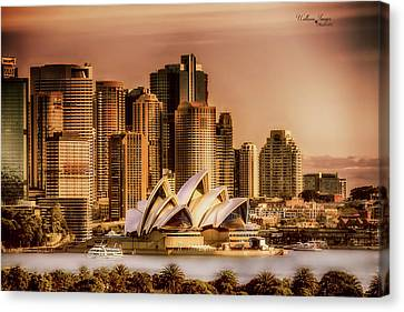 Canvas Print featuring the photograph Sydney Cityscape by Wallaroo Images