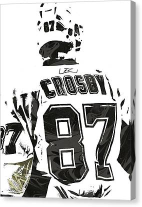 Sydney Crosby Pittsburgh Penguins Pixel Art 2 Canvas Print by Joe Hamilton