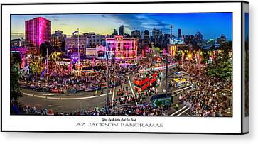 Sydney Gay And Lesbian Mardi Gras Parade Poster Print Canvas Print by Az Jackson