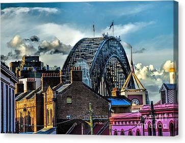 Sydney Harbor Bridge Canvas Print by Diana Mary Sharpton