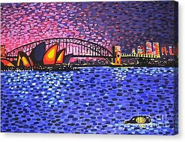 Sydney Harbour Canvas Print by Alan Hogan