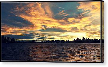 Sydney Harbour At Sunset Canvas Print