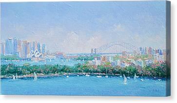 Sydney Harbour Bridge - Sydney Opera House - Sydney Harbour Canvas Print by Jan Matson