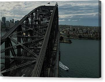 Canvas Print - Sydney Harbour Bridge View From Tower by Steven Richman