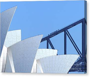 Sydney Icons Canvas Print by Phil Banks