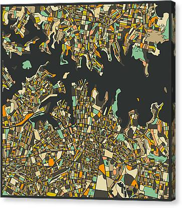 Sydney Map Canvas Print