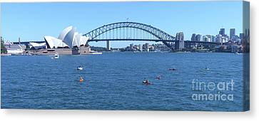 Sydney Opera House And Harbour Bridge Canvas Print by Phil Banks