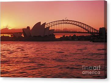 Sydney Opera House Canvas Print by Bill Bachmann - Printscapes