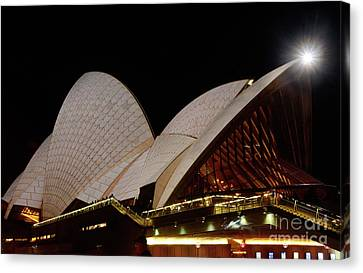 Canvas Print featuring the photograph Sydney Opera House Close View 2 By Kaye Menner by Kaye Menner