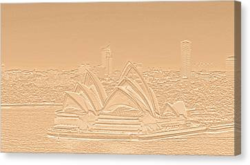 Sydney Opera House No. 17-2 Canvas Print by Sandy Taylor