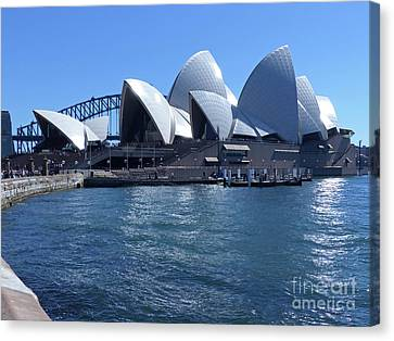 Sydney Opera House Canvas Print by Phil Banks