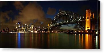 Sydney Skyline Canvas Print by Melanie Viola