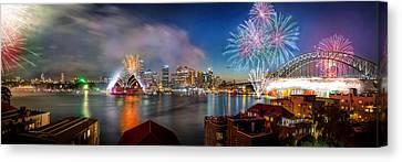 Sydney Sparkles Canvas Print by Az Jackson