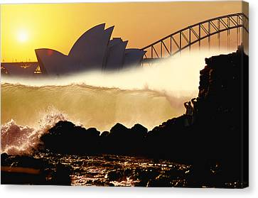 Sydney Surf Canvas Print by Sean Davey