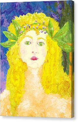 Canvas Print featuring the painting Sylph Of Spring by Shelley Bain