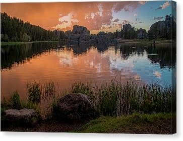 Canvas Print featuring the photograph Sylvan Lake by Gary Lengyel