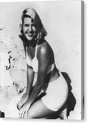 1950s Portraits Canvas Print - Sylvia Plath, C. 1954 After Her Nervous by Everett