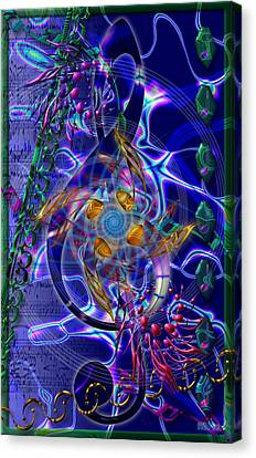 Symagery 20 Canvas Print by Kenneth Armand Johnson