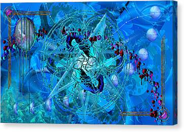 Symagery 34 Canvas Print by Kenneth Armand Johnson