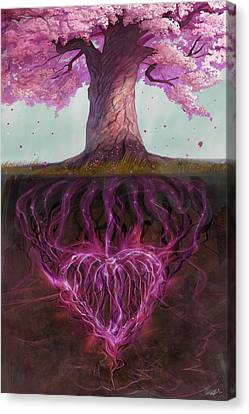 Symbolism Of Marriage Canvas Print by Steve Goad