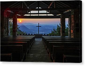 Symmes Chapel Sunrise Aka Pretty Place  Greenville Sc Canvas Print