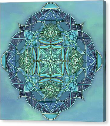Symmetrical #12 Canvas Print by Marion Sipe