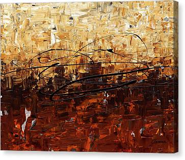 Canvas Print featuring the painting Symphony by Carmen Guedez