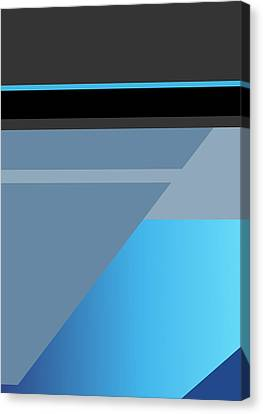 Symphony In Blue - Movement 1 - 3 Canvas Print